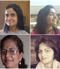 Linkee Arora, Rupali Bhuva, Mita Ketan Zaveri and Pranita Walavalkar